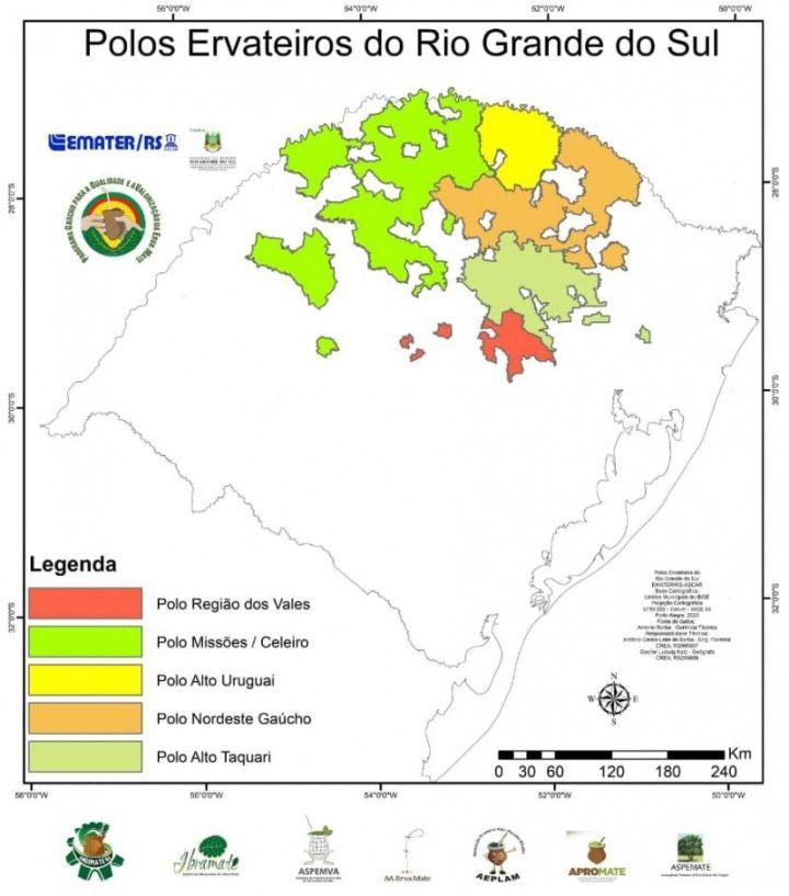 Conheça o novo mapa da erva-mate no Rio Grande do Sul