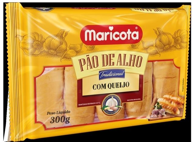 Maricota Alimentos desenvolve linha de pão de alho