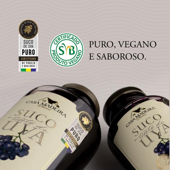 Suco de uva integral Casa Madeira recebe novos selos