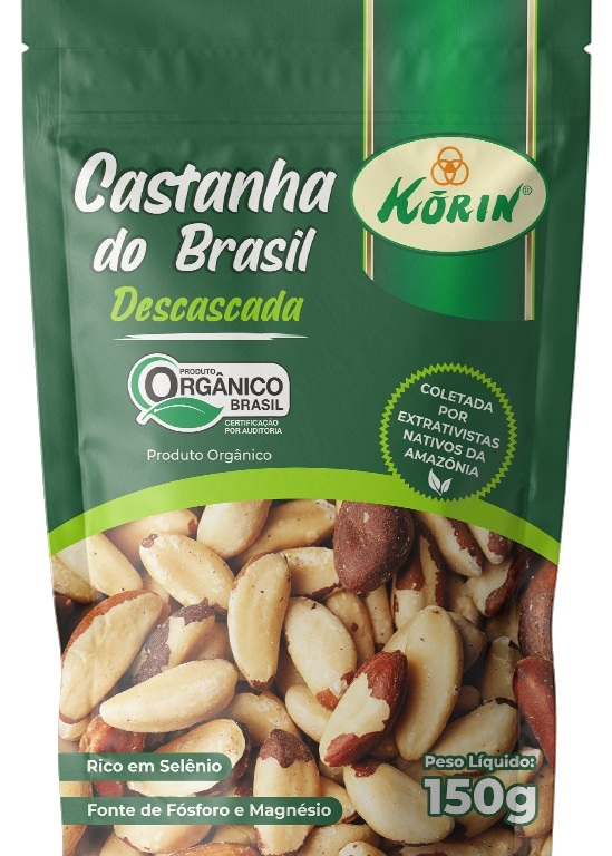 Castanha do Brasil orgânica é lançamento da Korin